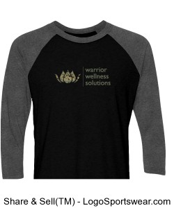 Next Level Unisex Tri Blend 3/4 Sleeve Raglan Design Zoom